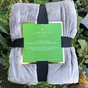 kate spade King Fleece Blanket